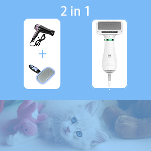 2 in 1 dog hair dryer