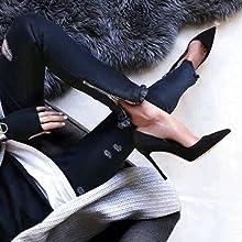 black stilettos for women