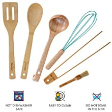 ladles for cooking wooden utensil holder kitchen utinsels sets bamboo spatula bamboo utensil holder