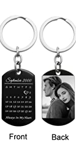 Custom photo message text special date anniversary wedding date first-met day laser engraving