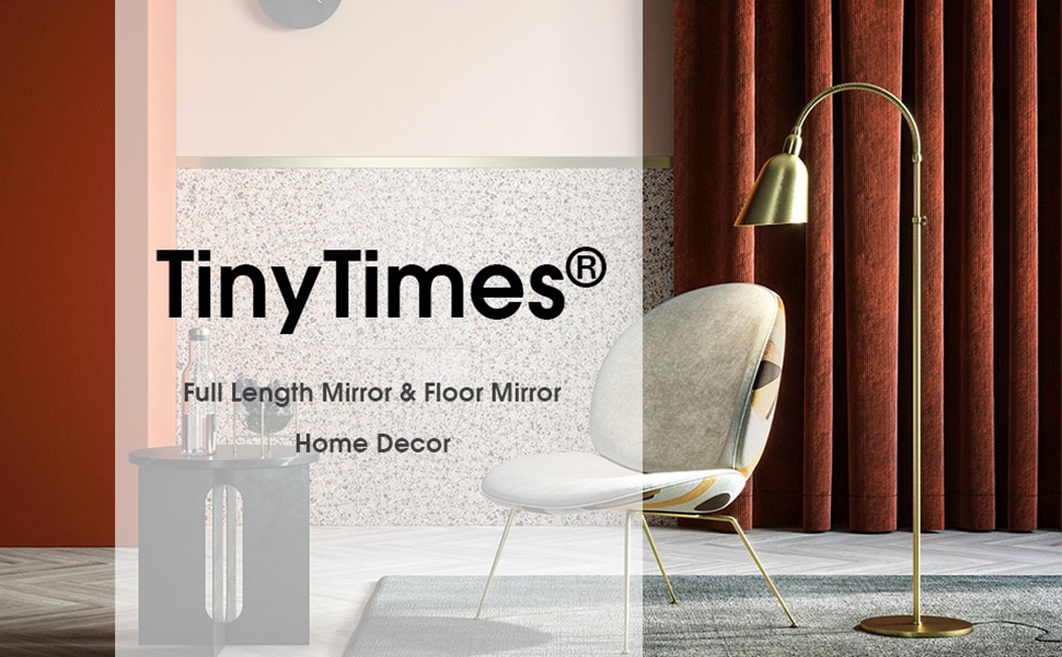 Tinytimes 64 21 Full Length Mirror Floor Mirror Thickened Frame Standing Mirror Full Body Mirror Wall Mirror Black
