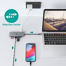 USB C dongle PD charging