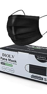 disposable face masks black