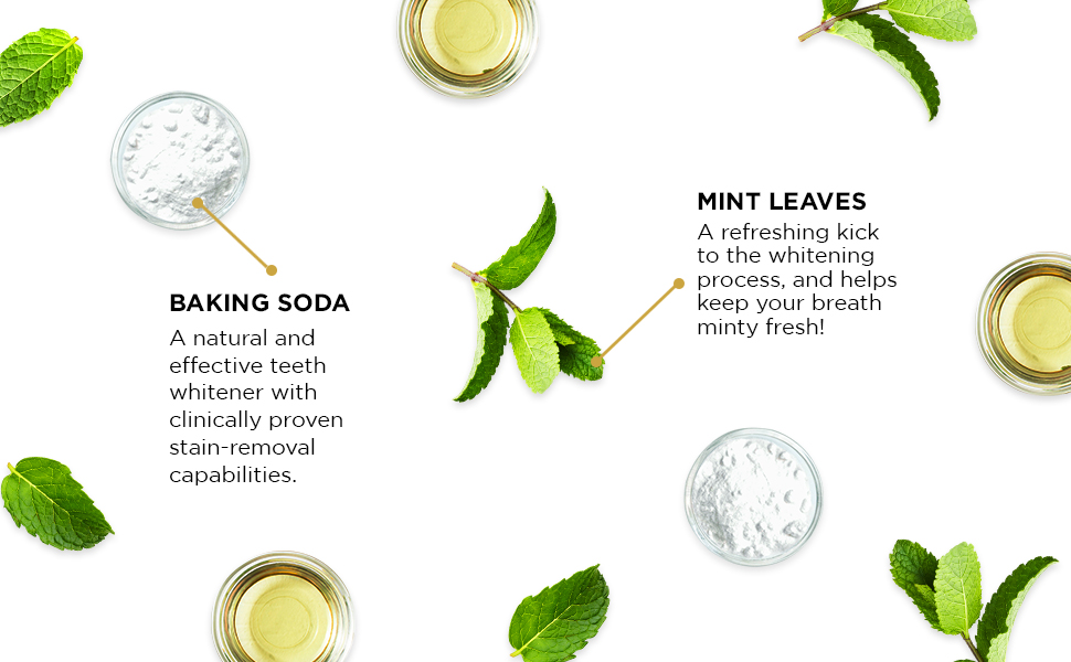 baking soda and mint toothpaste