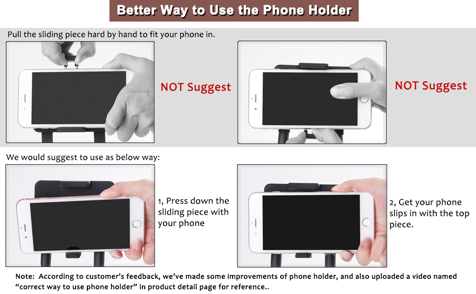 correct way to use phone holder