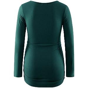 Green maternity top