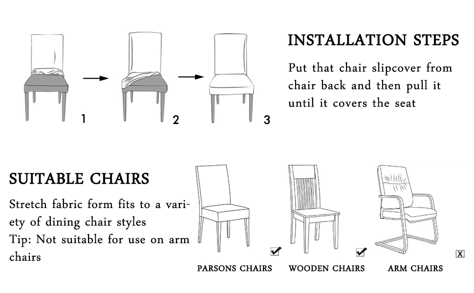 ColorBird Medallion Style Spandex Chair Slipcovers