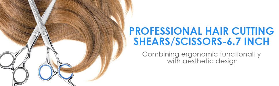 FRCOLOR Hair Cutting Scissors Set 8Pcs 2