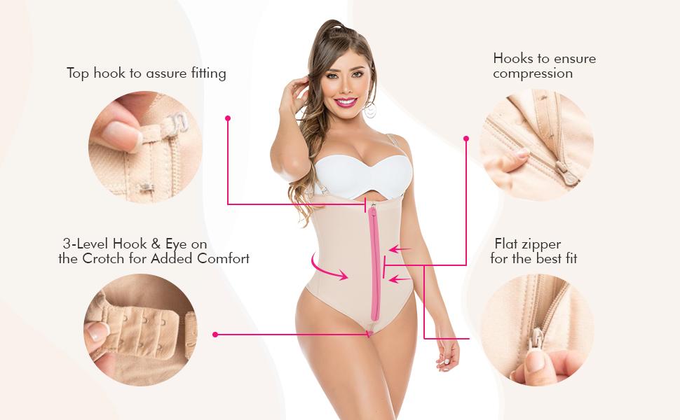Salome 0212 Fajas Tanga Colombianas Reductoras y Moldeadoras Shapewear Thong for Women Body Shaper