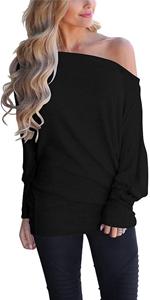 batwing sleeve long shirts