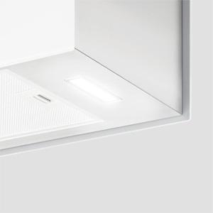 Klarstein Kronleuchter - Campana extractora en isla, Flujo aire hasta 600 m³/h, Iluminación LED, Eficiencia energética Clase A, 3 niveles, Filtro grasa, Control táctil, 60 x 35 x 35 cm, Blanco: Amazon.es: Hogar