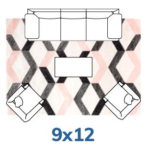 Well Woven bohemian 9x12 9x13 rugs.