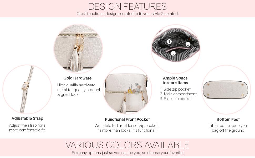 Sugu crossbody bag features