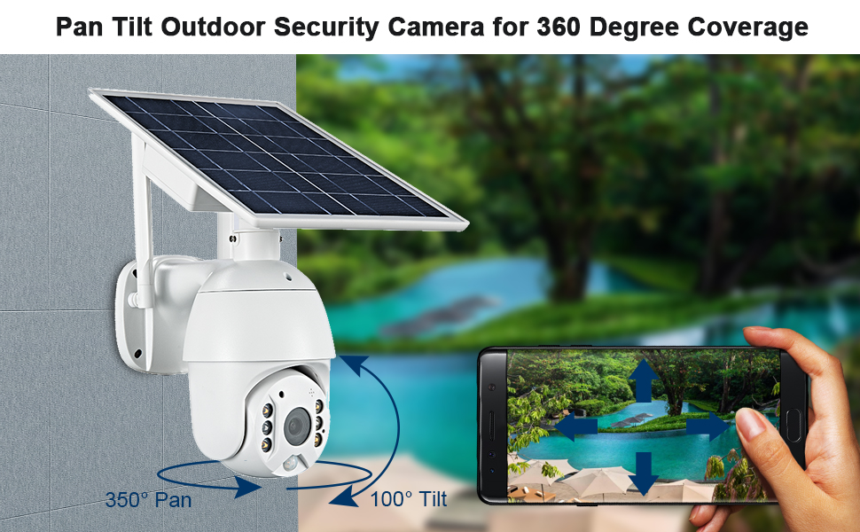 fuvision solar camera, outdoor security camera, security camera wireless,outdoor camera wireless