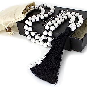 Howlite Mala Necklace