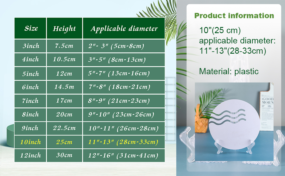 """Small Display Stands :  Clear Plastic 5cm 10 Pack 2/"""" : Plate Bowl etc"""