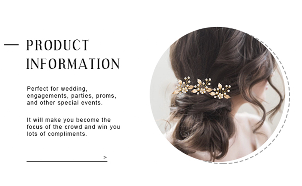 Wedding hair piece leaf is ideal for women and girls