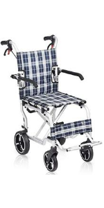 """Wheelchair Transport 19"""" Folding with bag"""