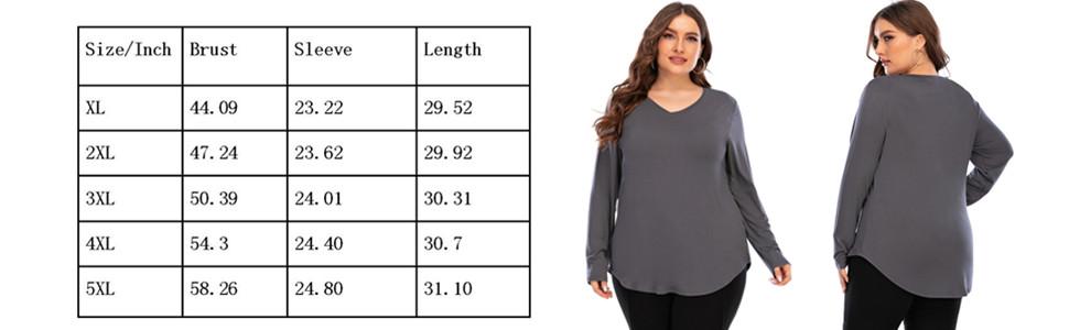 Women's tops plus size