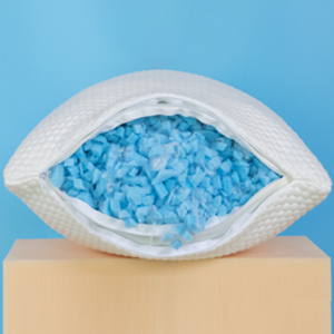 Molblly king twin pillows is filled with 70% gel-infused memory foam pillows