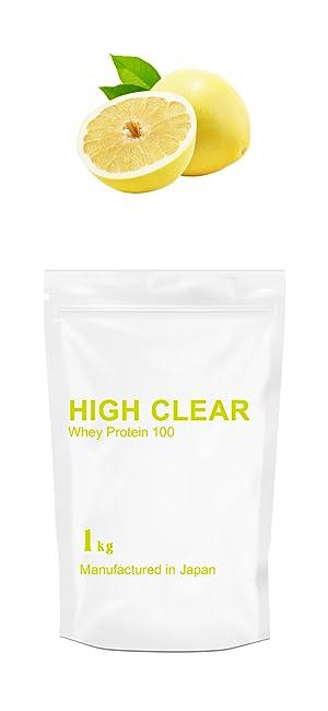 HIGH CLEAR ハイクリアー ホエイ プロテイン 100 クエン酸入りさっぱりグレープフルーツ風味 1kg