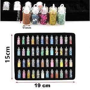 nail art glitter bottles