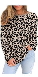 Women Crewneck Long Sleeve Pullover Sweatshirt