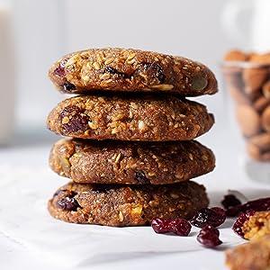 vegan cookies, healthy nutrition cookies, vegan gluten free dessert, vegan snacks, vegan breakfast