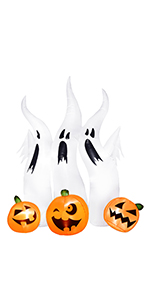 Halloween Inflatables Ghosts with Pumpkins