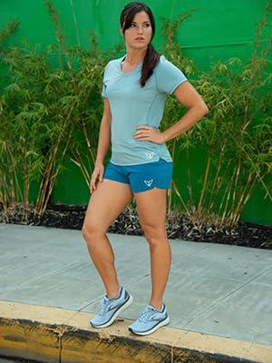 korsa women's running workout apparel long sleeve top