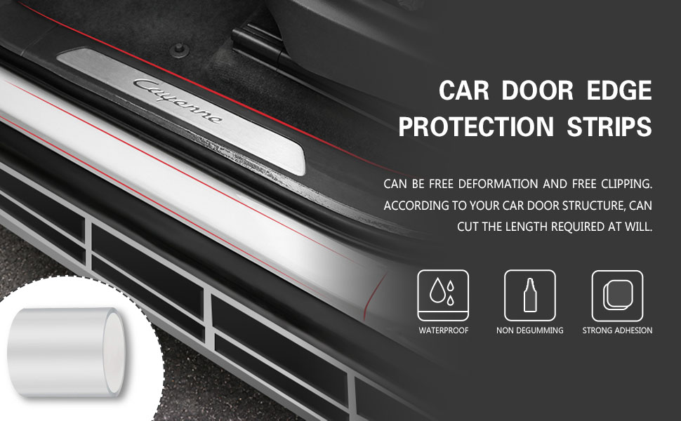 Partol Rear Bumper Guard Bumper Protector for Car Corner Protection Prevent from Scratches /& Low Speed Impacts Universal Fit
