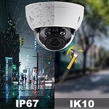 Vandal-proof Dome IP67 Waterproof network camera Dome