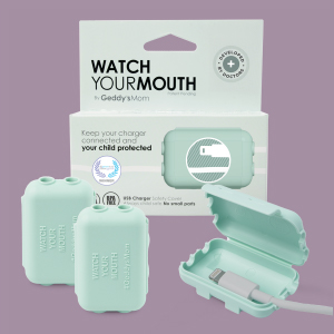 Aqua Watch Your Mouth, Child-Safe USB Charger Safety Cover