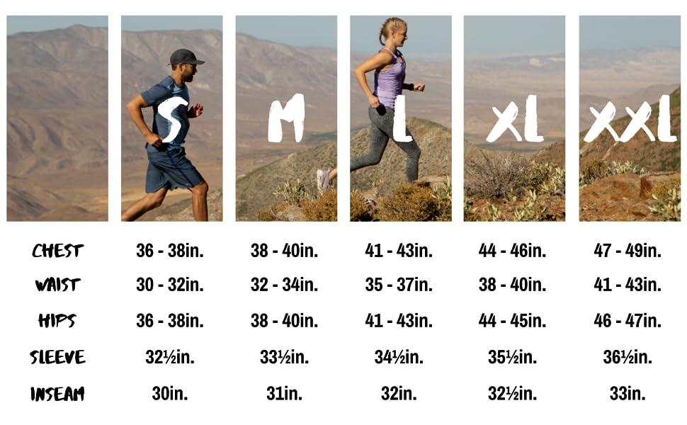 rgear menssize chart running shorts