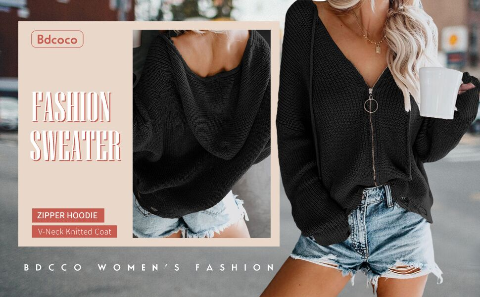 Hooded Cardigan for women