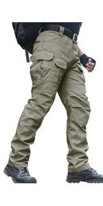 Amazon Com Pantalones Resistentes Al Agua De Los Hombres De Ajuste Recto Tactico Combate Ejercito Carga Trabajo Pantalones Con Multiples Bolsillos Clothing