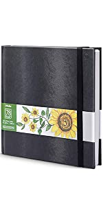 Double-Sided Hardbound Hardcover Sketchbook, Spiral Sketch Pad, Durable Acid Free Drawing Paper