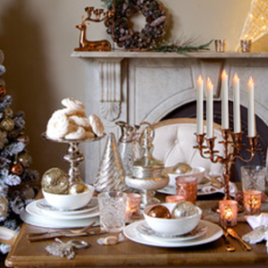Christmas Flickering Taper Candles