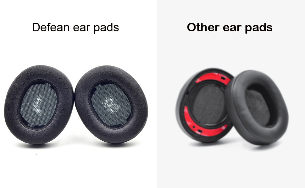 Comparison between defean ear pads and other imitation ear pads