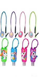 4 Pack Mask Lanyard for Kids Face Mask | 4 Kids Mixed Hand Sanitizer Keychain Carriers