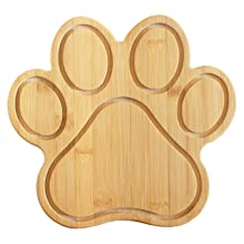 Paw Dog Cat Cutting Board Serving Cheese Plate Animal Pet Parent Housewarming Gift Wooden Plastic