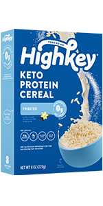 frosted keto protein cereal