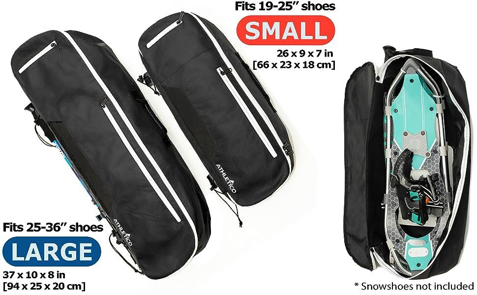 snowshoe bag snow shoe backpack black athletico