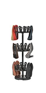 3 Tier Revolving Shoe Organizer