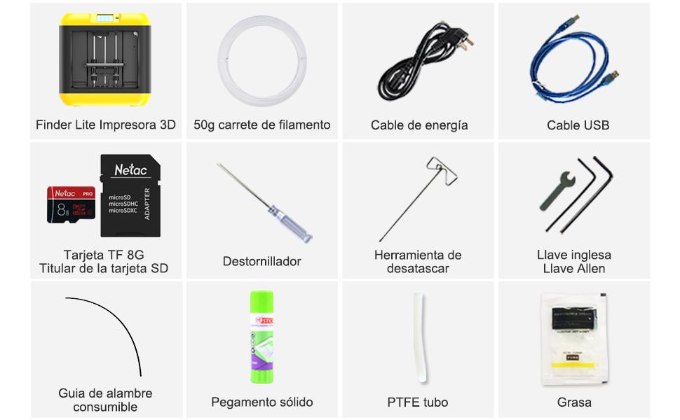 Flashforge Impresora 3D Finder Lite (azul): Amazon.es ...