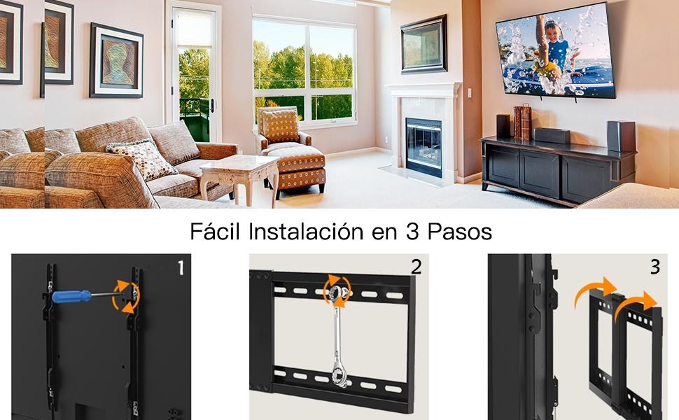 Soporte TV De Pared Articulado Inclinable – Soporte De Pared TV ...