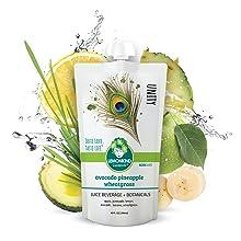 Avocado Wheatgrass pineapple juice