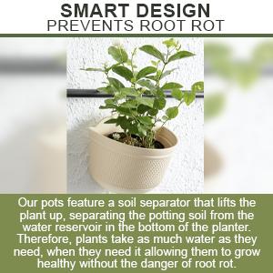 planter pots soil separator water plugs hooks planting growing basket planting semi round planter