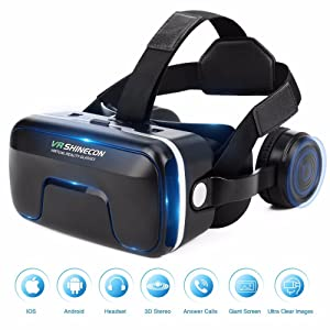 Fashion VR Headset with Headphones