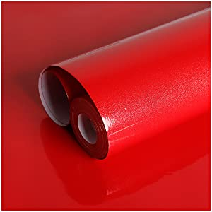 red contact paper decorative